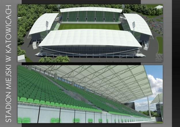 Nowy stadion GKS Katowice będzie obiektem III kategorii UEFA /gieksa.pl/INTERIA.PL