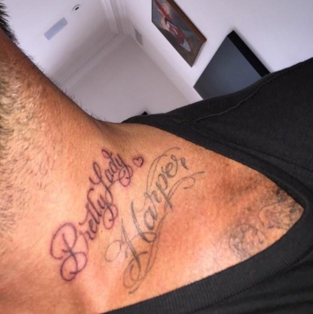 Nowy tatuaż Davida Beckhama /Instagram@davidbeckham/ Printscreen /Instagram