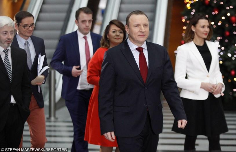 Nowym prezesem TVP został Jacek Kurski, a Barbara Stanisławczyk objęła stanowisko prezesa w Polskim Radiu /    STEFAN MASZEWSKI/REPORTER /East News