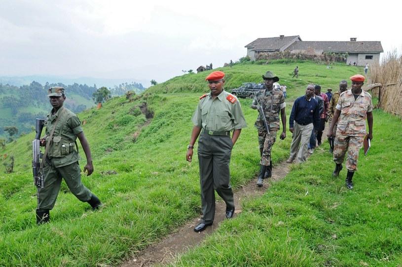 Ntaganda Bosco (w środku) /AFP