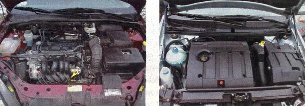 Oba silniki działają poprawnie, choć ten w Fiacie jest nowocześniejszy. W komorze silnikowej Forda zauważamy spory nieporządek i - co dość ważne - pod silnikiem nie ma osłony przeciwbłotnej. A w Fiacie jest. /Motor