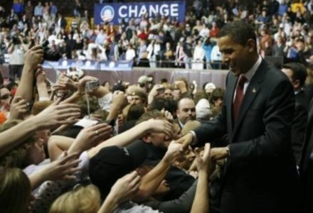 Obama wrobiony w romans - przez spamerów /AFP