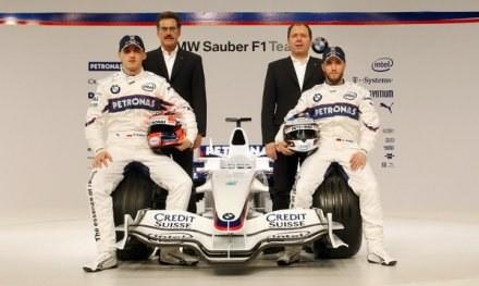 Obecny skład zespołu BMW Sauber. Jaki będzie w następnym sezonie? /AFP