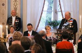 Obiad u króla. Prezydent z małżonką w Norwegii