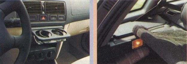 Obie firmy myślą o ułatwieniach dla użytkownika auta. W VW uchwyt na kubki (kolejnej generacji). W Alfie elastyczna półka bagażnika. /Motor