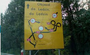 Objazd do Lędzin :)  / kliknij