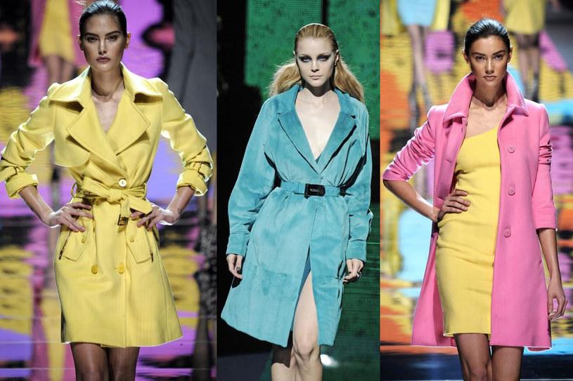 Obowiązkowe jesienią: płaszcze w ultrażywych kolorach Blumarine i Versace /East News/ Zeppelin