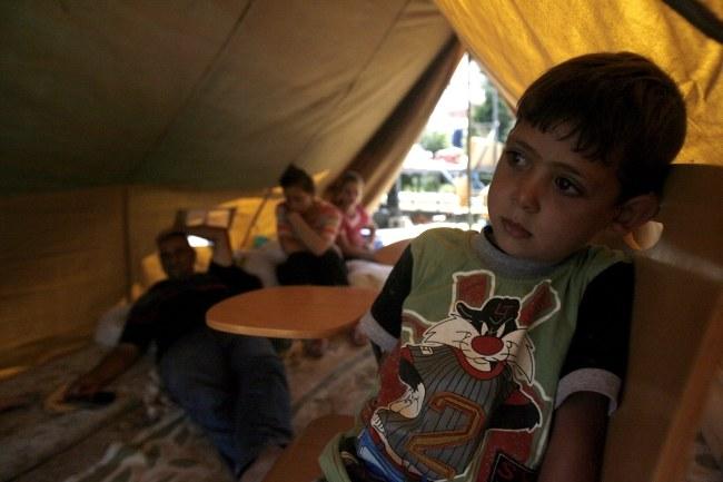 Obóz dla chrześcijańskich uchodźców /AHMED JALIL /PAP/EPA