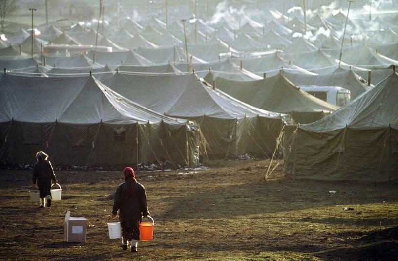 Obóz dla uchodźców z Czeczenii usytuowany na granicy z Ingustią (zdjęcie archiwalne) /STRINGER /PAP/EPA