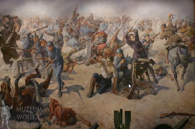 """Obraz """"Bitwa pod Zadwórzem"""" Stanisława Batowskiego (1931 r.) fot. Muzeum Wojska Polskiego /INTERIA.PL"""