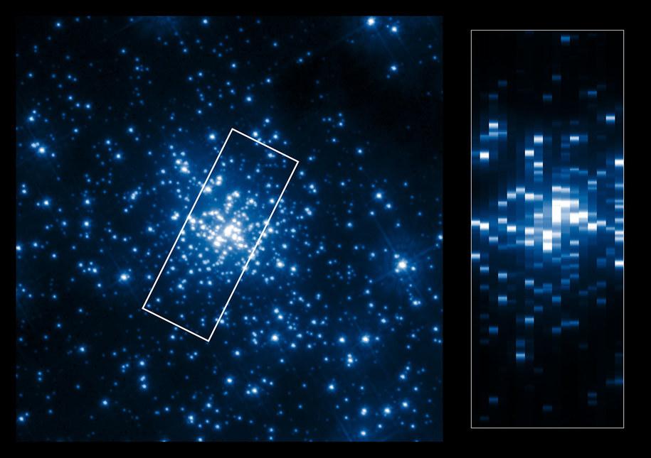 Obraz centrum gromady R136 w promieniowaniu ultrafioletowym /ESA/Hubble, NASA, K.A. Bostroem (STScI/UC Davis) /materiały prasowe