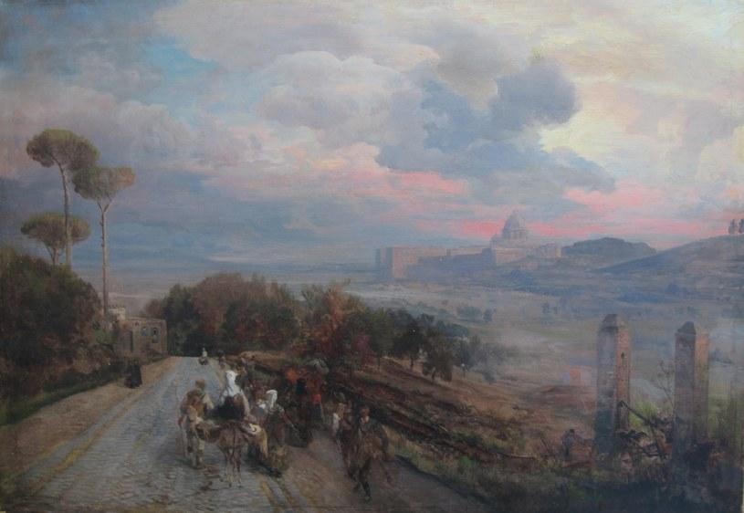 """Obraz """"Via Cassia koło Rzymu"""" wrócił do Wrocławia /Ministerstwo Kultury i Dziedzictwa Narodowego"""