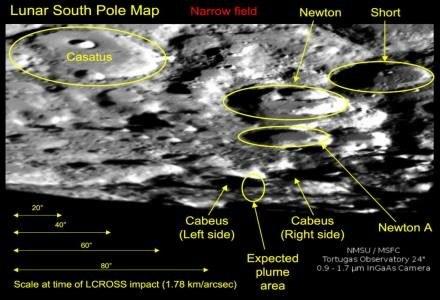 Obszar Księżyca badany w ramach misji LCROSS /AFP