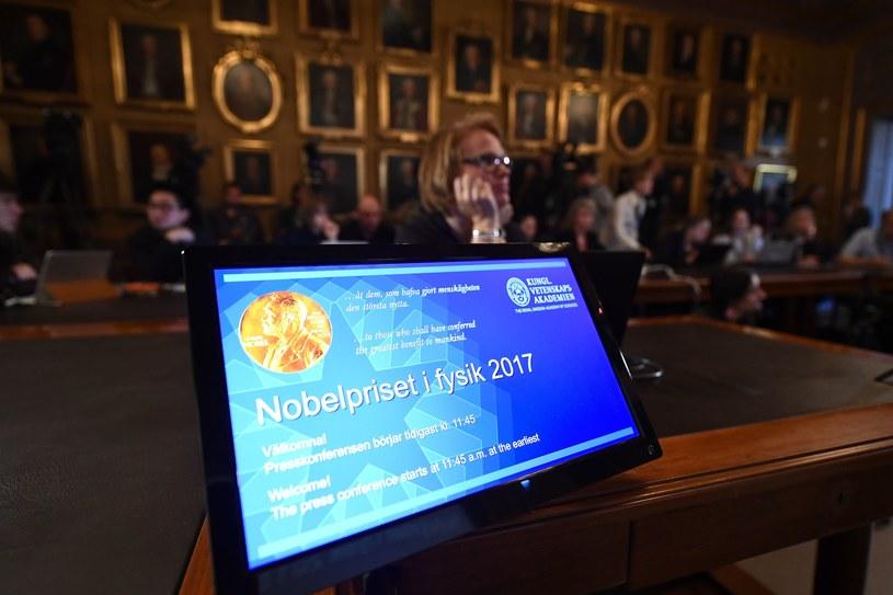 Oczekiwanie na ogłoszenie tegorocznych laureatów w dziedzinie fizyki /JONATHAN NACKSTRAND /AFP