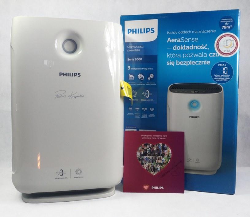 Oczyszczacz powietrza Philips AC2887 z podpisem Pauliny Krupińskiej /materiały prasowe