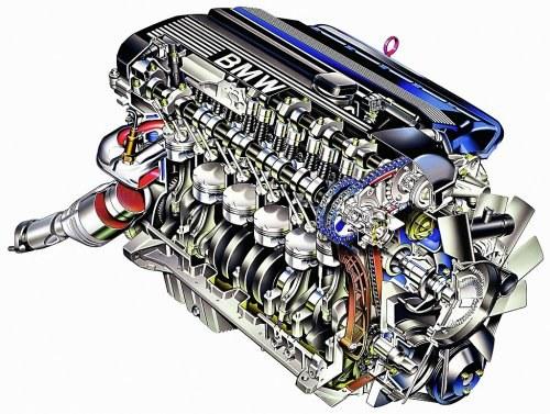 Od 1998 r. silniki M52 zostały wyposażone w układ zmiany faz rozrządu zaworów dolotowych i wydechowych Double Vanos. Wcześniej system obsługiwał tylko zawory dolotowe. /BMW