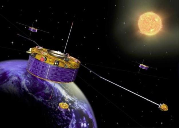 Od 2000 roku cztery satelity Cluster badają ziemską magnetosferę w trzech wymiarach /materiały prasowe