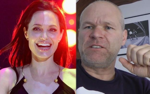 Od lewej aktorka Angelina Jolie (AFP), niemiecki producent filmowy Uwe Boll (YouTube.com) /materiały źródłowe