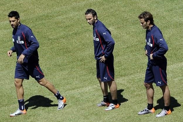 """Od lewej: Borriello, Pazzini i Gilardino - każdego z nich chętnie """"przygarnąłby"""" Juventus /AFP"""