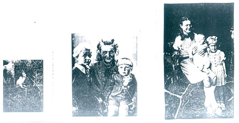 Od lewej: Henryk Kowalczyk z rodzoną matką; mały Henryk w wieku kilku lat i Fini na kolanach kuzynki; Henryk w okresie niemowlęcym, Fini i kuzynka. /INTERIA.PL