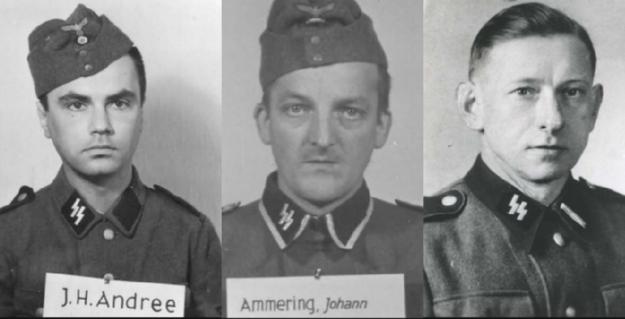 (od lewej) Joachim Heinz Andree, Johann Ammering, Waldemar Alschewski /IPN