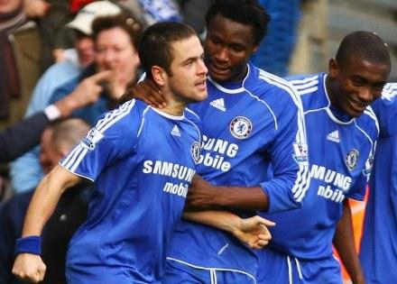 Od lewej: Joe Cole, John Obi Mikel i Salomon Kalou/fot. Ian Walton /Getty Images/Flash Press Media