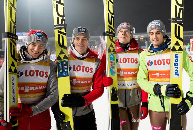 Od lewej: Kamil Stoch, Piotr Żyła, Dawid Kubacki i Maciej Kot w Zakopanem /Michał Łepecki /