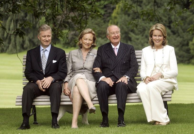 Od lewej: książę Filip, królowa Paola, król Albert II i księżniczka Matylda /Getty Images
