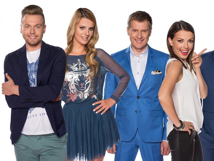 Od lewej: Michał Grobelny, Zofia Zborowska, Krzysztof Respondek i Katarzyna Glinka /Polsat