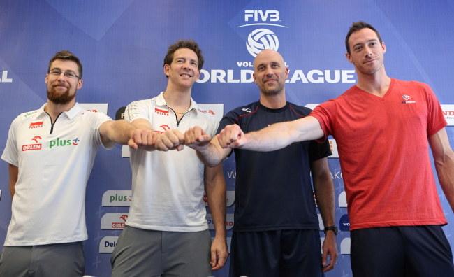 Od lewej: Michał Kubiak, Stephane Antiga, John Speraw i David Lee /Stanisław Rozpędzik /PAP
