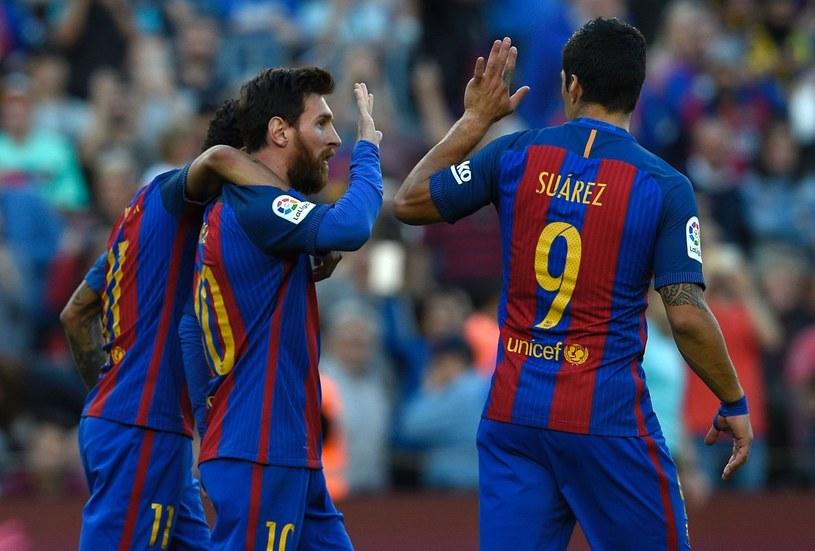 Od lewej: Neymar, Leo Messi i Luis Suarez /AFP