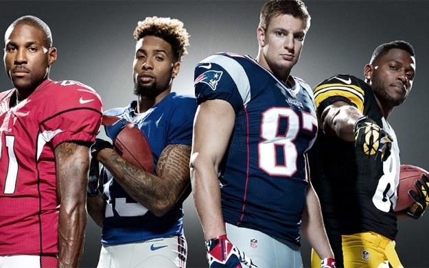 Od lewej: Patrick Peterson, Odell Beckham, Jr., Rob Gronkowski, Antonio Brown - zdjęcie pochodzi ze strony EA Sports /materiały źródłowe