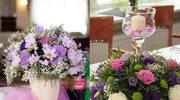 Odczarowany fiolet - dekoracje weselne