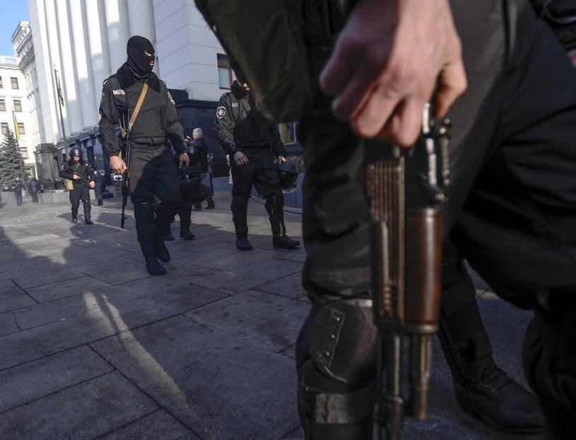 Oddziały milicji w Kijowie /AFP