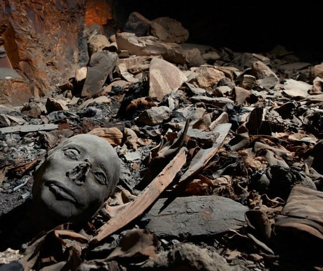 Odkryty grobowiec od czasów starożytnych był już kilka razy obrabowany. /MATJAZ KACICNIK/UNIVERSITY OF BASEL /PAP/EPA