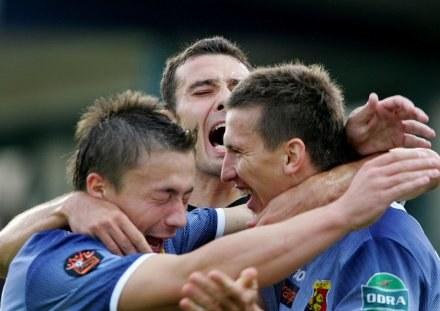 Odra mogła się cieszyć z pierwszego zwycięstwa od trzech miesięcy Fot. Jerzy Kleszcz /Agencja Przegląd Sportowy