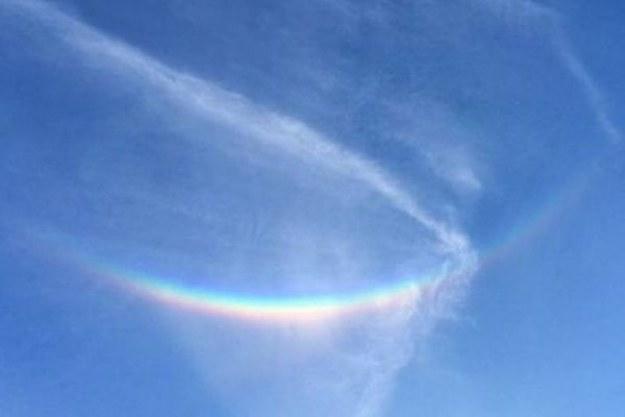 Odwrócona tęcza często występuje w wyższych warstwach atmosfery /Zmianynaziemi.pl