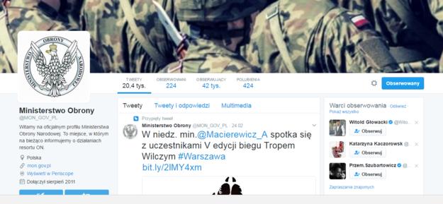 Oficjalny profil MON na Twitterze /Twitter