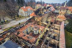 Ogień strawił uzdrowisko w Szczawnie-Zdroju. Zobacz ogrom zniszczeń