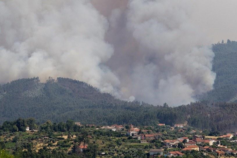 Ogień wciąż się rozprzestrzenia /PAP/EPA