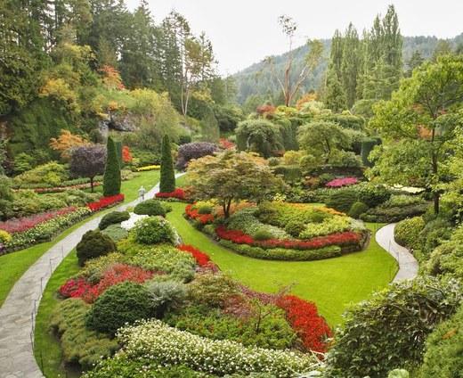 Ornamental Landscaping Bushes : Najpi kniejsze ogrody wiata butchart kobieta w