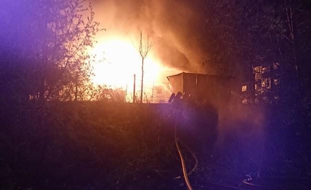 Ogromny pożar w rozlewni z chemikaliami w Żywcu