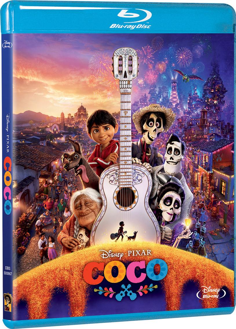 """Okładka Blu-Ray filmu """"Coco"""" /materiały prasowe"""