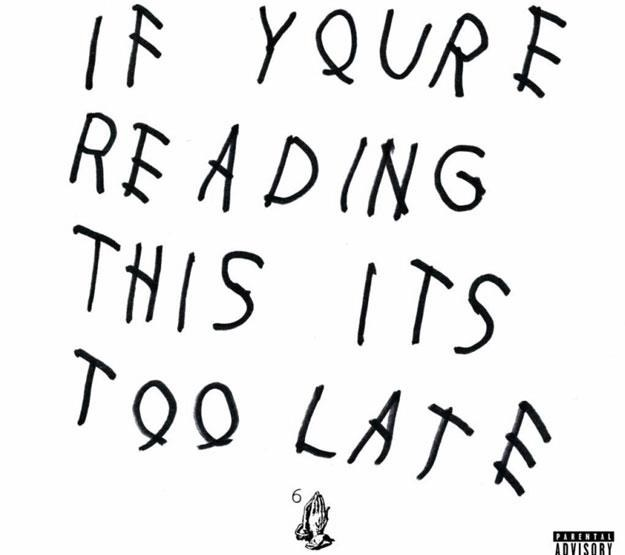 "Okładka Drake ""If You're Reading This It's Too Late"" /"