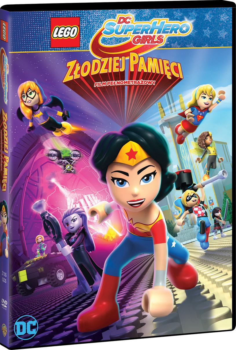 """Okładka filmu """"LEGO DC Super Hero Girls - Złodziej Pamięci"""" /materiały prasowe"""