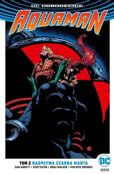 """Okładka komiksu """"Aquaman - Nadpływa Czarna Manta"""" /materiały prasowe"""