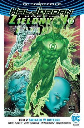 """Okładka komiksu """"Hal Jordan i Korpus Zielonych Latarni. Światło w butelce"""" /materiały prasowe"""