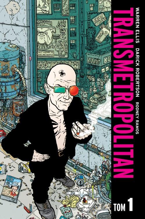 """Okładka komiksu """"Transmetropolitan"""" /materiały prasowe"""