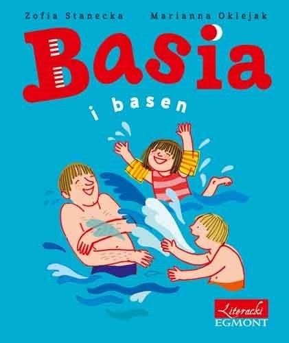 """Okładka książki """"Basia i basen"""" /materiały prasowe"""