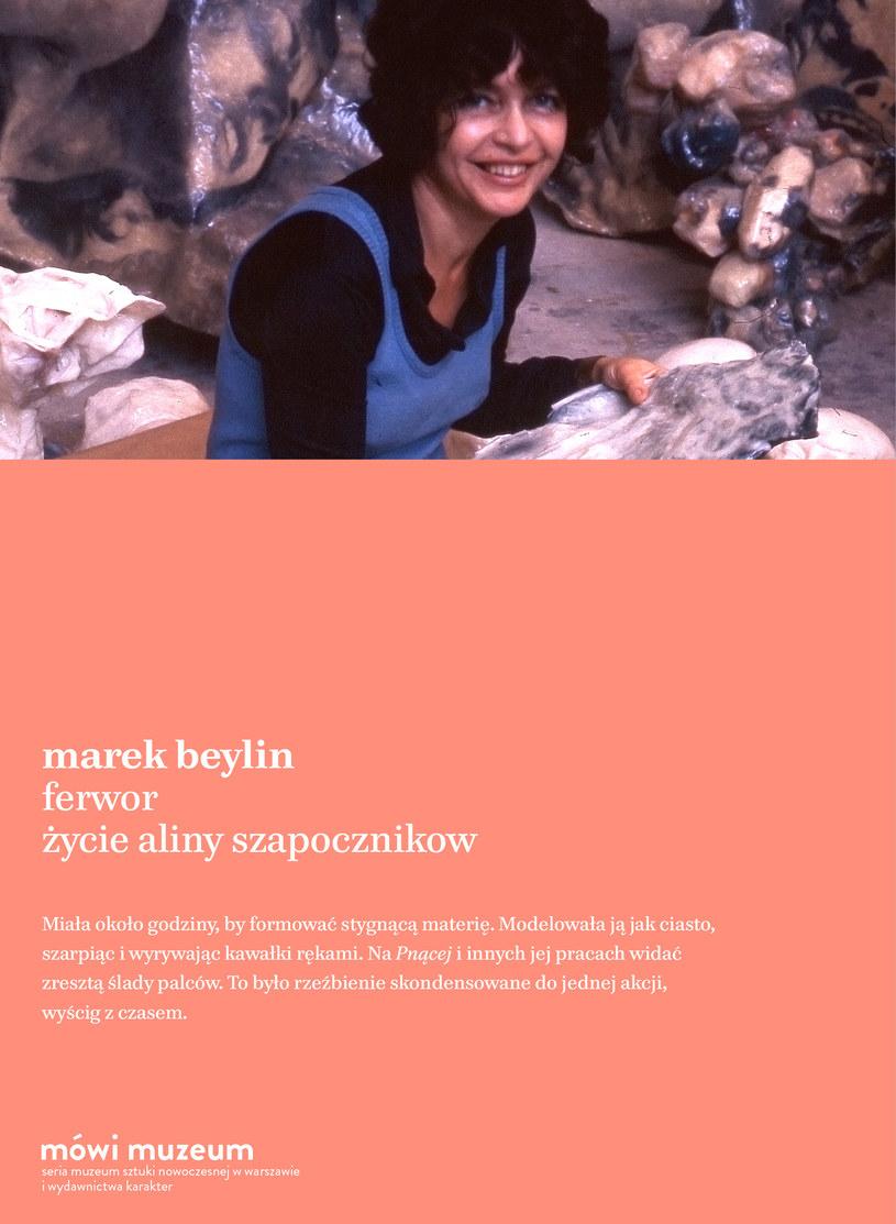 """Okładka książki """"Ferwor. Życie Aliny Szapocznikow"""", wyd. Karakter, Muzeum Sztuki Nowoczesnej w Warszawie /materiały prasowe"""